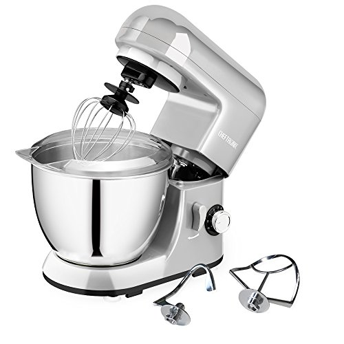 Find Bargain CHEFTRONIC Stand Mixer, Kitchen Mixer,Electric Mixer, 120V 350W, 6 Speeds, Tilt-head,4....
