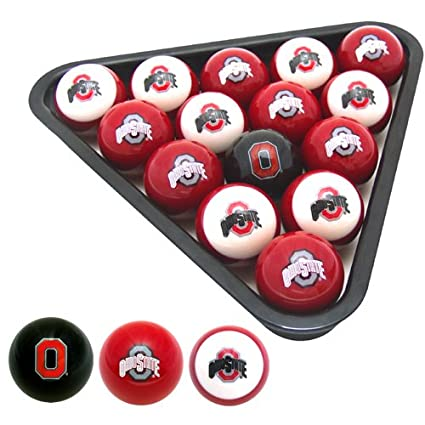 Awesome Ohio State Buckeyes Officially Licensed Billiard Balls By Frenzy Sports