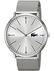 Lacoste Mens MOON Quartz Stainless Steel Casual Watch, Color:Silver-Toned (Model: 2010901)
