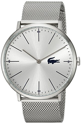 Lacoste Men's Moon Quartz Watch with Stainless-Steel Strap, Silver, 20 (Model: 2010901) (Watches Lacoste)