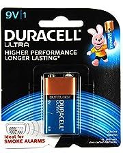 Long Lasting Power Duracell Ultra Alkaline 9 Volt Battery Blister Pack, (03962)