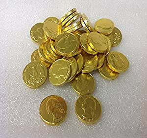 Chocolate Gold Coins wrapped in Gold foil with Jewish ...