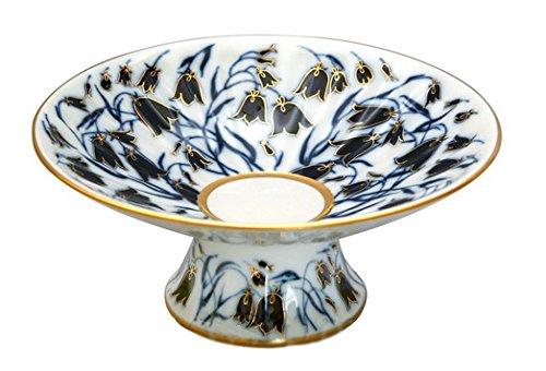 Bluebell Vase - Lomonosov Porcelain Radiant Candy Dish Jam Confectionery Vase BlueBells 7.6