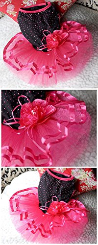 Pictures of Topsung Small Dog Clothes Dress Blingbling Tutu 5
