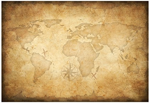 Aged Treasure Map Background Poster