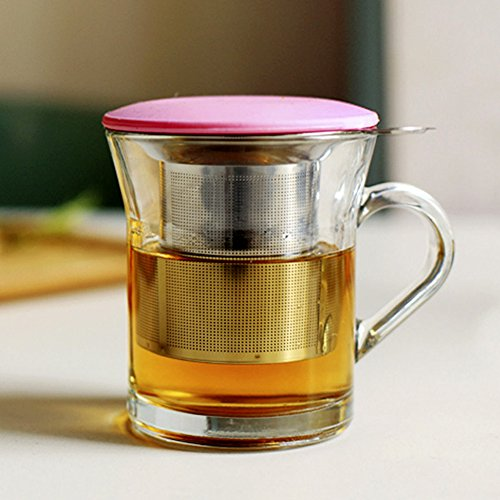 Tea Infuser, Stainless Steel Tea Strainer with Lid, Handles, Tea Filter, Cups, 2pcs by Ragdoll50 (Image #5)