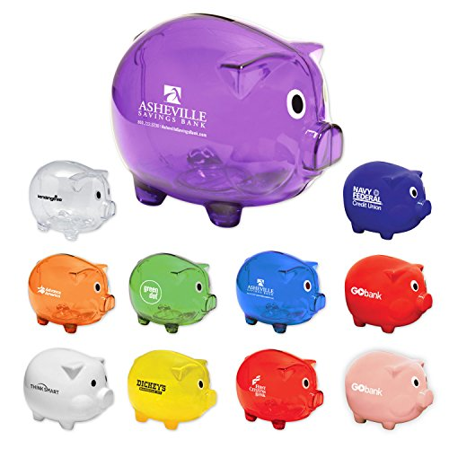150 Personalized Classic Piggy Bank Printed with Your Logo or Message by Ummah Promotions