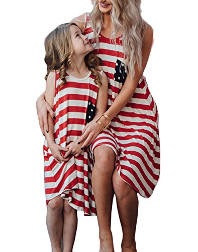 Family Matching Dress Mommy and Me USA Flag