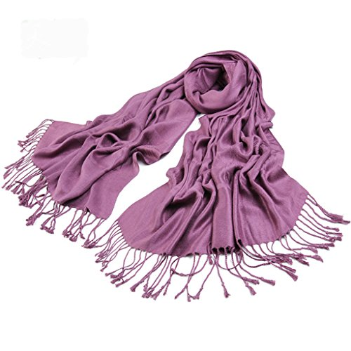 Runtlly Women's 100% Bamboo fiber jacquard luxurious printing scarf (Cotton Knit Infinity Scarf)