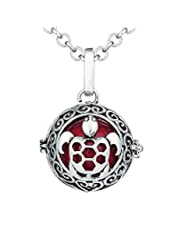 Bonnie Turtle Tortoise Locket Necklace 27 inch Chain Ball Music Pendant Charm Necklace for Women Fashion Jewelry