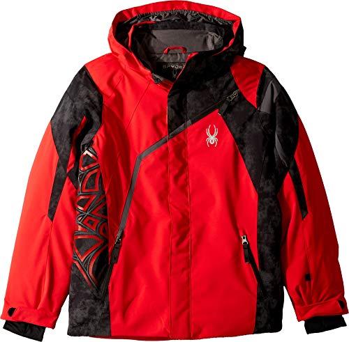 - Spyder Boys' Challenger Ski Jacket, Red/Cloudy Reflective Distress Prt/Polar, Size 8