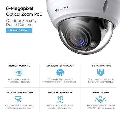 a3f5c808035f CHEAP Amcrest UltraHD 4K Varifocal PoE Dome Outdoor Security Camera ...