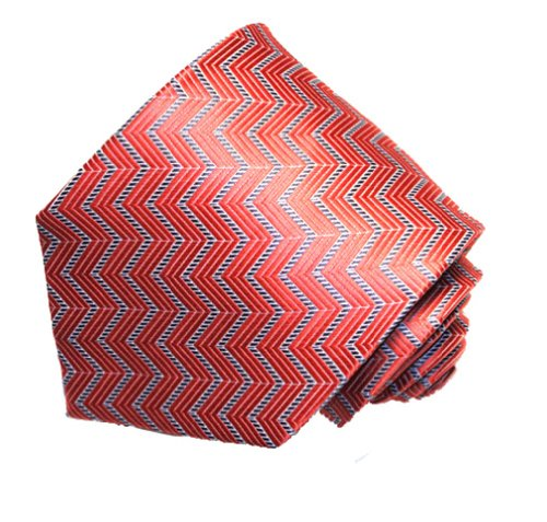 Covona Men's Red Zigzag Tie (Covona Tie)