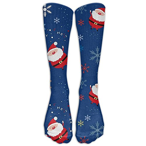 FUNINDIY Santa Claus High Thin Cotton Faster Recovery Fun Colors Naughty Fashionable Men Women Compression Socks Knee Socks For Athletes Pregnancy Halloween Thanksgiving Christmas -