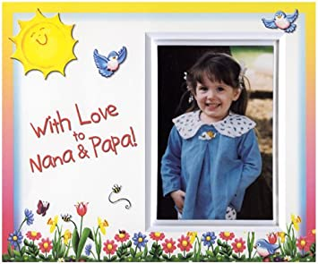 with love to nana papa picture frame gift