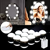 LED Vanity Mirror Lights, Hollywood Style Make up Mirror Lamps Kit with Dimmable 10 LED Bulbs, Lighting Fixture Strip, 15.5ft/4.72M for Makeup Dressing Tables and Bathroom Mirror by MIBOTE
