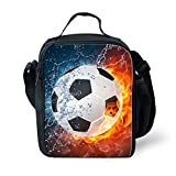 CHAQLIN 3D Soccer Printing Children Lunchbag Thermal Instulated Lunchbox Picnic Food Storage Cooler Box