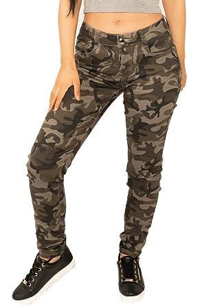 diseño atemporal c49fb 539c0 Pantalón Camuflado Oscuro Estilo Slim Skinny para Mujer ...