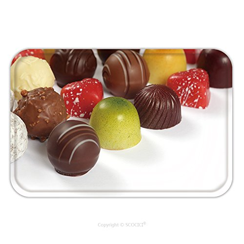 Flannel Microfiber Non-slip Rubber Backing Soft Absorbent Doormat Mat Rug Carpet Photo Of Assorted Truffles Pralines And Liqueur Filled Chocolates On White Background 82490320 for (White Liqueur)