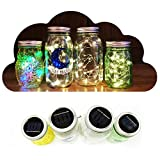 Fairy Mason Jar Lights (3-Pack) LED Solar Powered Indoor and Outdoor String Lighting | Outdoor Garden, Patio, Party, Bedroom Decor | Reusable, Weather-Resistant