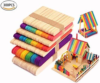 Amazon com: Healthcom Wooden Popsicle Sticks 4 5