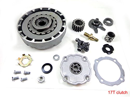 17T Teeth Semi Automatic Clutch Assembly with Accessories for 110cc 125cc 135cc ATV Quad Go Kart Dirt Bike Taotao SUNL Roketa Kazuma JCL - Clutch Bikes Dirt Automatic