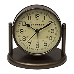 Crosley Nautical Desk Alarm, Bronze