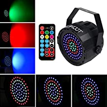 Stage Lights, KOOT 78W RGB DJ Lights 2019 NEW Generation Uplighting Sound Activated with Remote Control Compatible with DMX Up Lights for Wedding Karaoke Bar Ballroom Party Festival