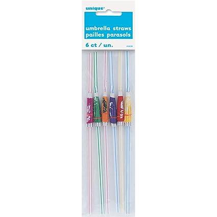 Luau Party Umbrella Straws, 6ct