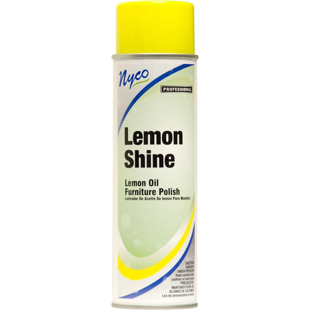 nyco products nl051 a12 lemon shine aerosol lemon oil furniture polish 19 ounce aerosol can. Black Bedroom Furniture Sets. Home Design Ideas