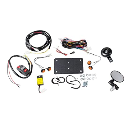 amazon com tusk universal atv street legal kit with recessed rh amazon com tusk street legal kit wiring diagram tusk light bar wiring diagram