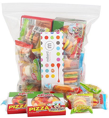 eFrutti Gummi Candy Variety Party Pack: Pizzas, Mini Burgers, Sour Mini Burgers, Hot dogs, Cup Cake, Sea Creature ()