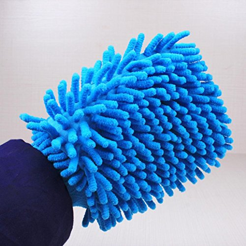 Iuhan New Easy Microfiber Car Kitchen Household Wash Washing Cleaning Glove Mit (Color Random) (Multicolor) by Iuhan (Image #3)