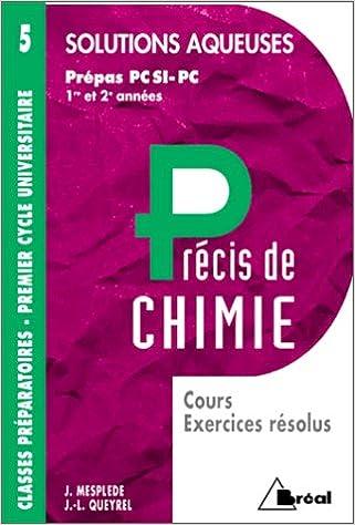 Livres Précis de chimie, tome 5. Solutions acqueuses epub, pdf