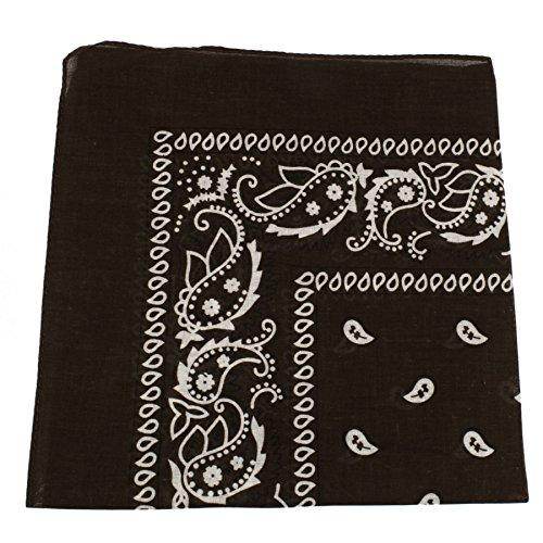 BOOLAVARD 100/% Cotton 1 6 or 12 Bandanas with Original Paisley Pattern Choice of Scarf Wrap Headwear//Wrap Hair Head Neck