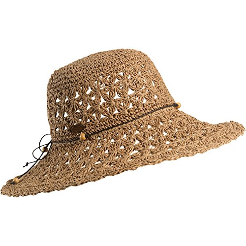 Turtle Fur Chara Women's Floppy Oversized Brim Straw Beach Sun Hat Vermont Collection Sun Style, (Fur Crocheted Hat)