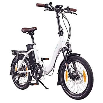 NCM Paris+ Bicicleta eléctrica Plegable, 250W, Batería 36V 19Ah • 684Wh (Blanco +