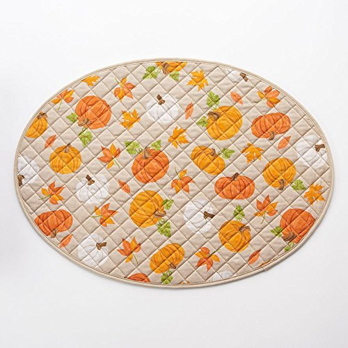 oval quilted placemats - 6