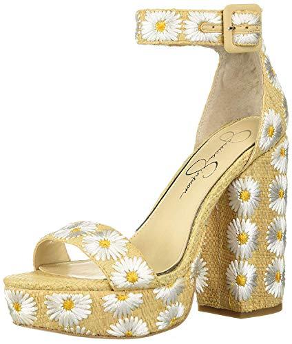 Jessica Simpson Women's CAIYA3 Sandal, White Combo, 7.5 M US