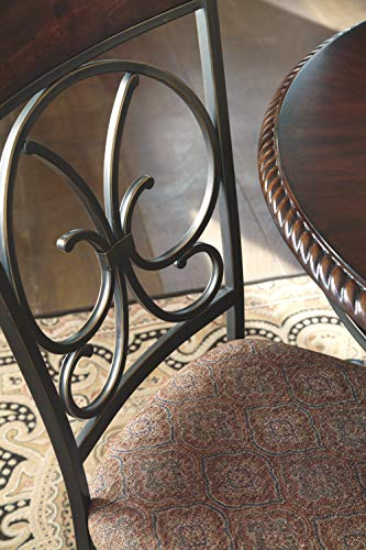 Ashley Furniture Signature Design - Glambrey Dining Room Chair Set - Scrolled Metal Accents - Set of 4 - Brown by Signature Design by Ashley (Image #5)