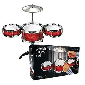 Desktop Drum Set - Red by west