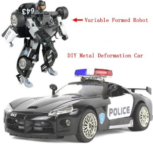 SuPoo® DIY Transformers Police Car Alloy Car Models Robot Deformation Best TOY Birthday Gifts (Transformers For Cars compare prices)