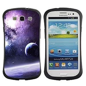 Paccase / Suave TPU GEL Caso Carcasa de Protección Funda para - Purple Galaxy - Samsung Galaxy S3 I9300
