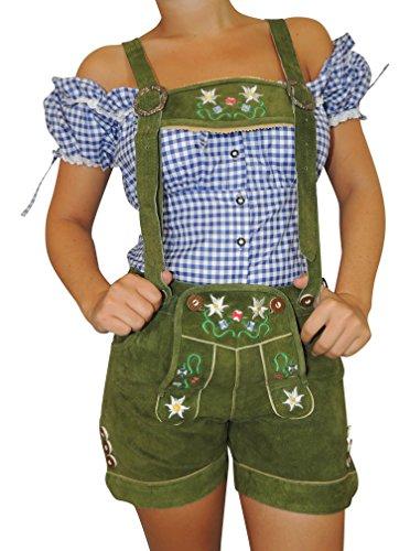 MS-Trachten Damen Trachten Lederhose grün 42