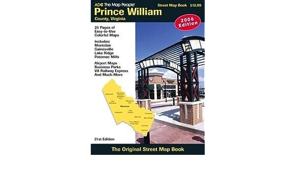 ADC The Map People Prince William County, Virginia: Street Map Book Idioma Inglés: Amazon.es: Libros en idiomas extranjeros