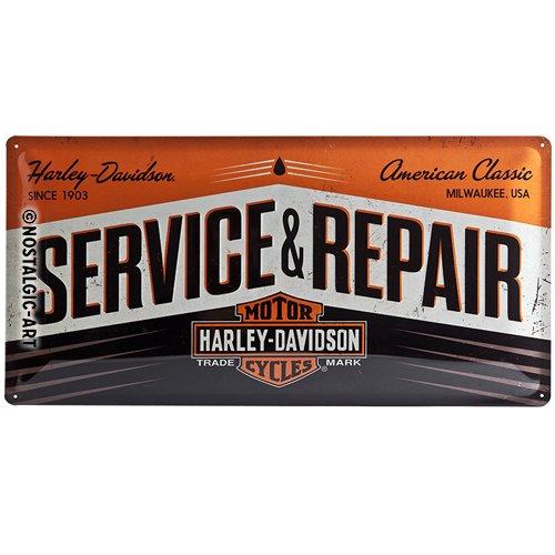 Harley Davidson Service & Repair large embossed steel sign (na 5025)