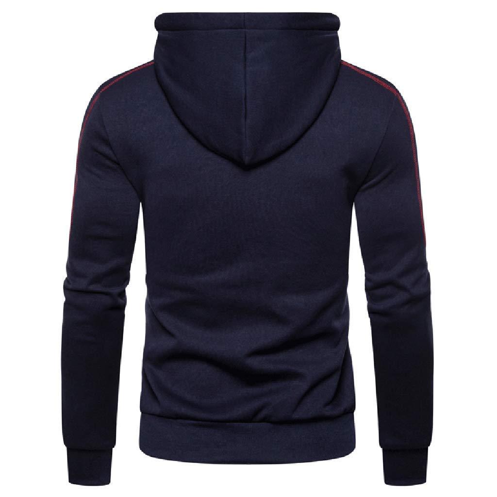 khdug✿ Outwear for Men Men Autum Winter Long Sleeve Hooded Sweatshirt Zipper Outwear Tops Blouse