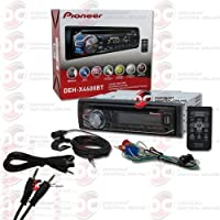 2014 Pioneer 1DIN Car Stereo Cd Player with Bluetooth Pandora Support + Remote Control FREE 3.5mm AUX Cable
