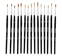 SALE - Virtuoso 15-Piece Fine Paintbrushes, Handmade Detail Paint Brush Set - For Acrylic, Watercolo