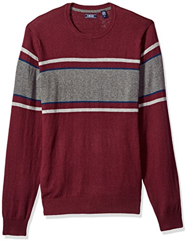 IZOD Men's Fine Gauge Crew Sweater, Fig, X-Large